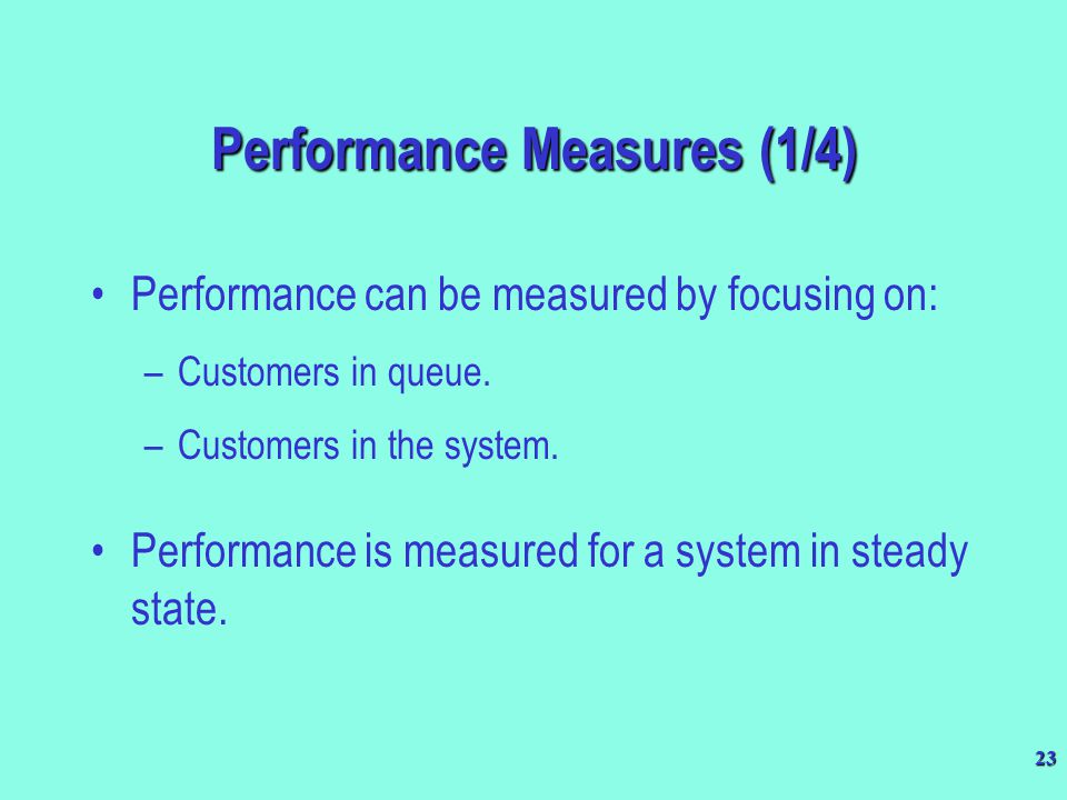 Performance Measures (1/4)