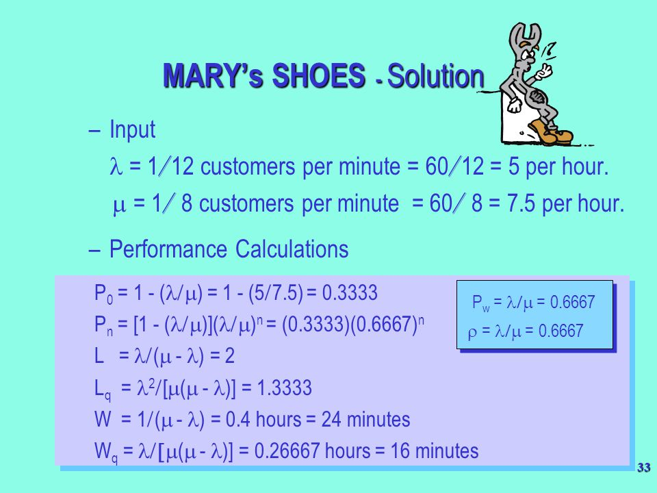 MARY's SHOES - Solution