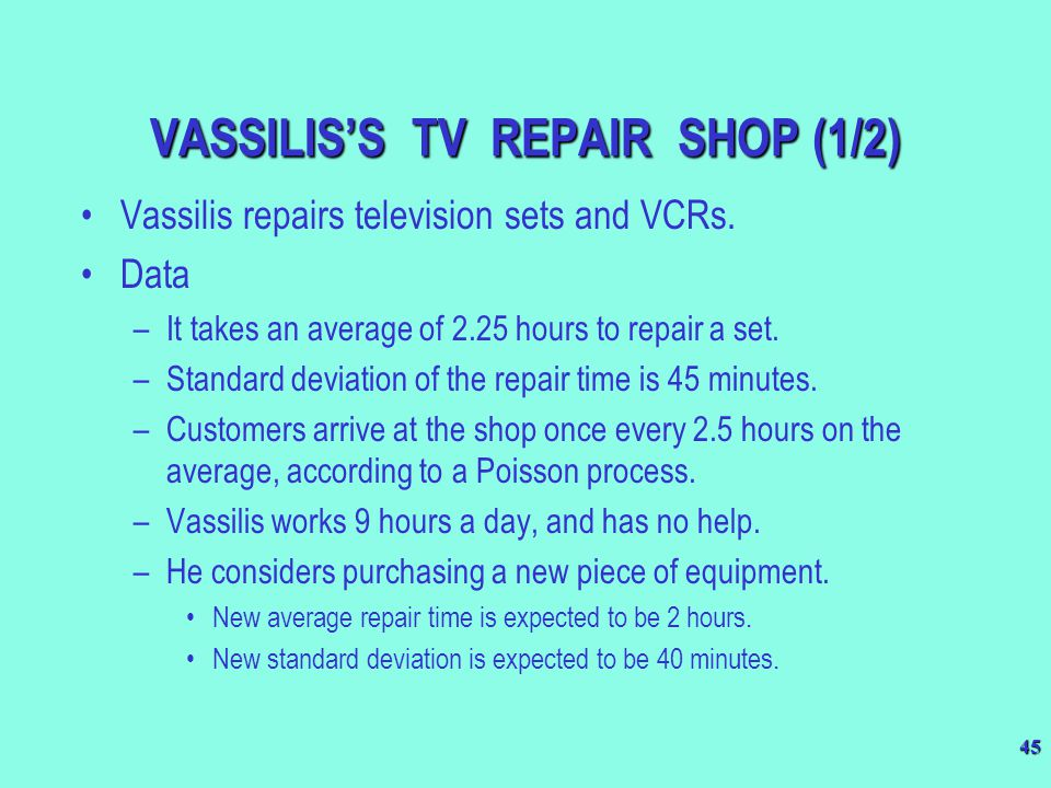 VASSILIS'S TV REPAIR SHOP (1/2)