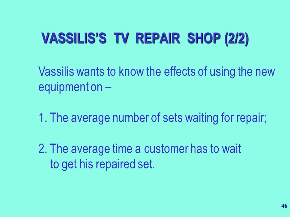 VASSILIS'S TV REPAIR SHOP (2/2)