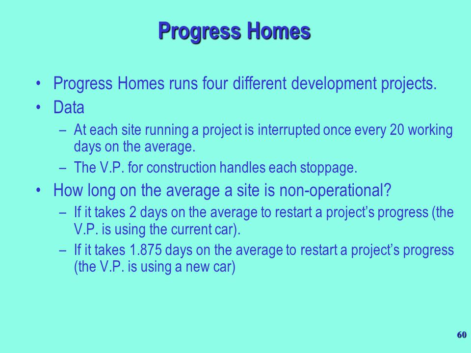 Progress Homes Progress Homes runs four different development projects. Data.