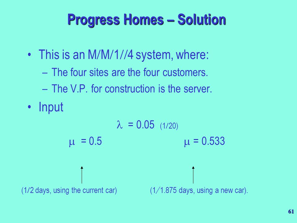 Progress Homes – Solution