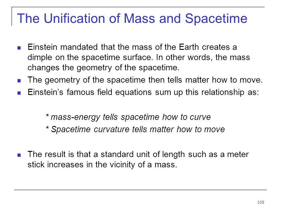 The Unification of Mass and Spacetime