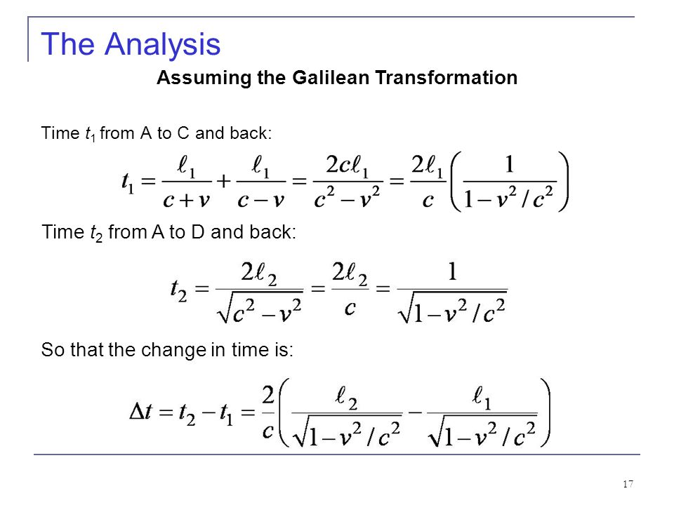 Assuming the Galilean Transformation