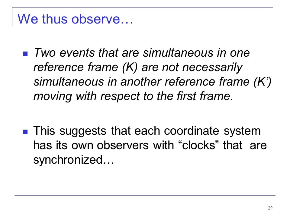We thus observe…