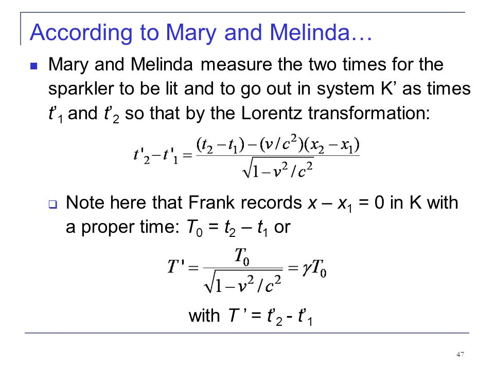 According to Mary and Melinda…