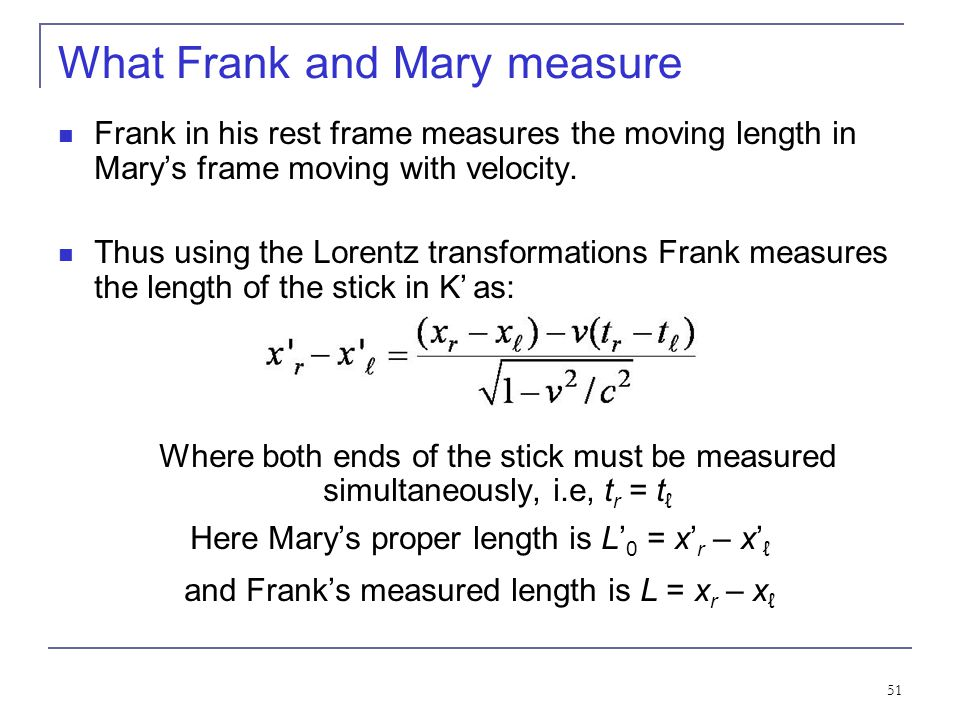 What Frank and Mary measure