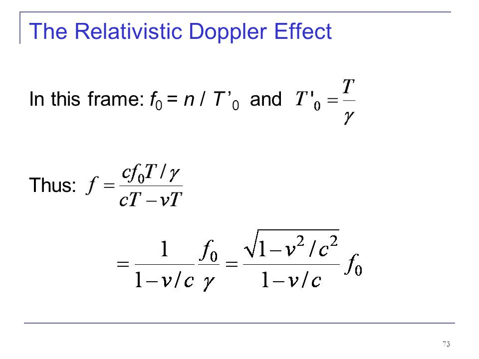 The Relativistic Doppler Effect