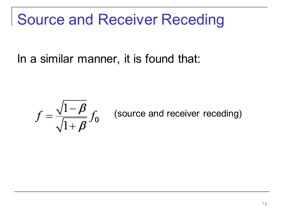 Source and Receiver Receding