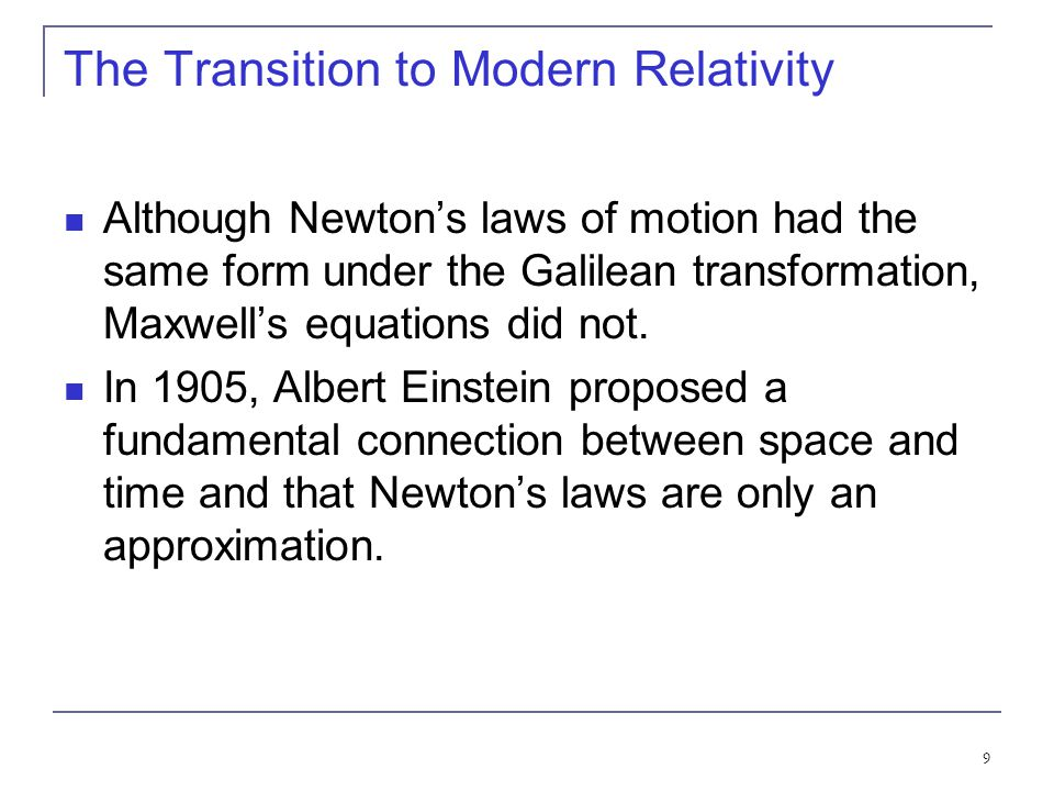 The Transition to Modern Relativity