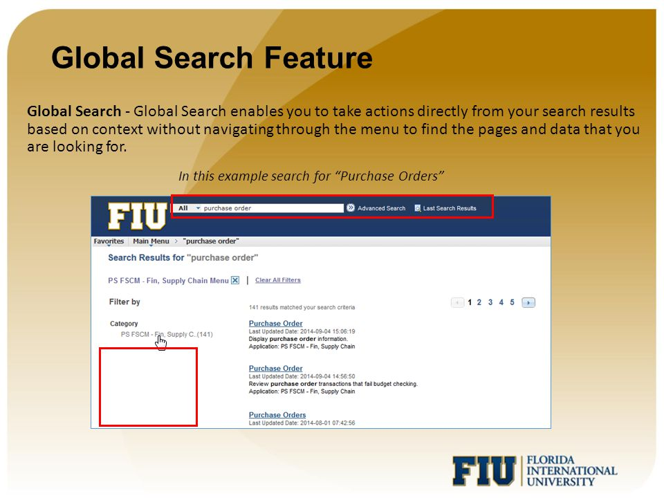 Global Search Feature