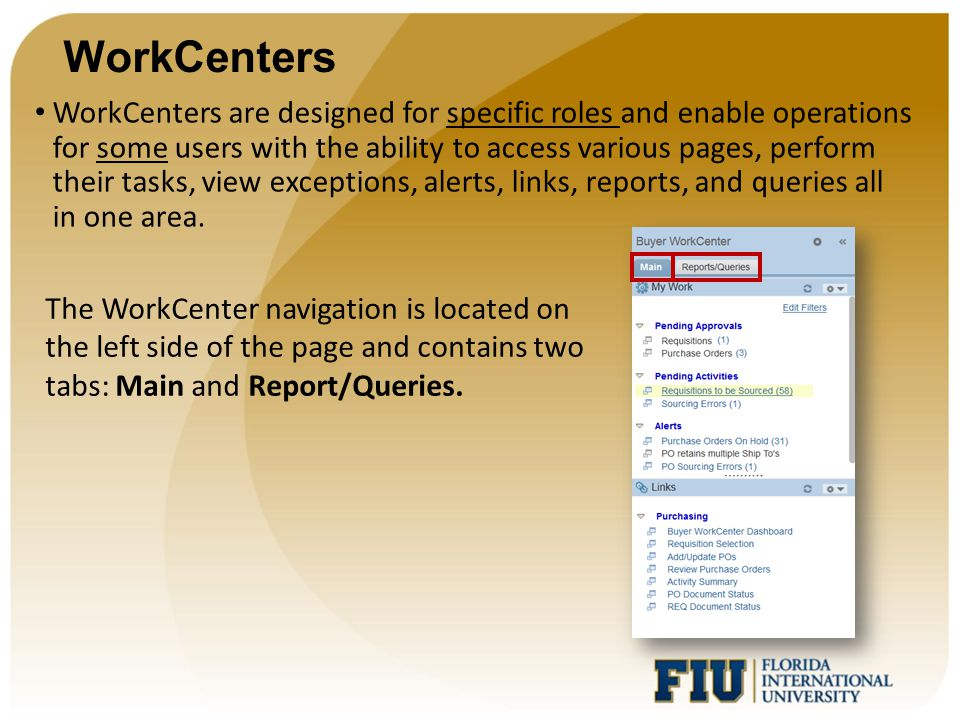 WorkCenters