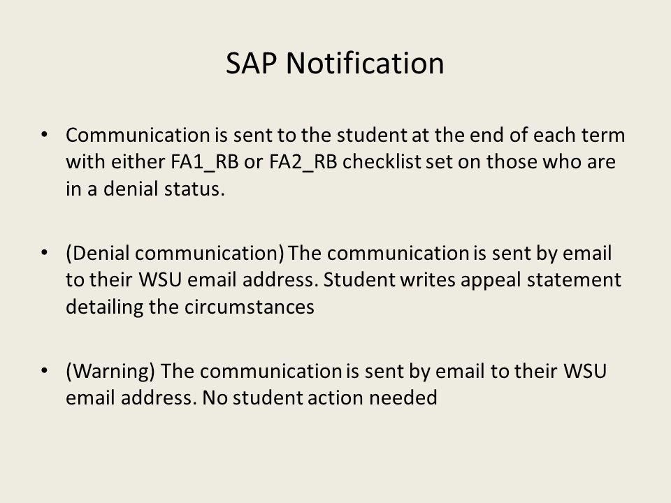 SAP Notification