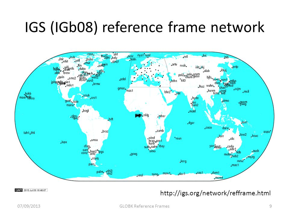 IGS (IGb08) reference frame network