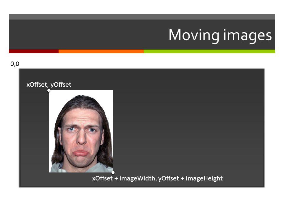 Moving images 0,0 xOffset, yOffset