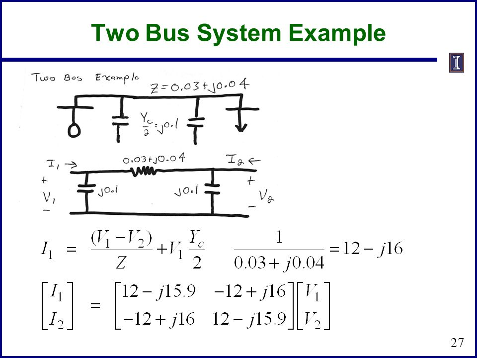 Two Bus System Example