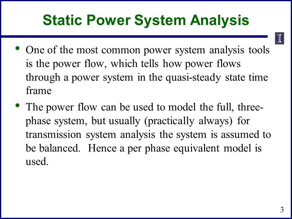 Static Power System Analysis