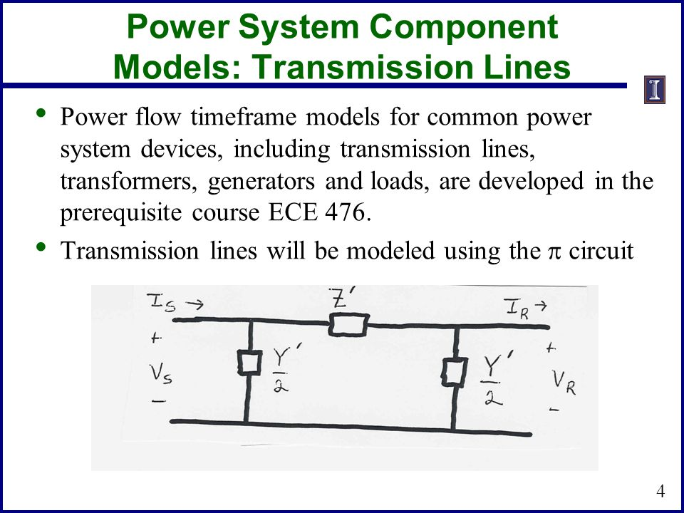 Power System Component Models: Transmission Lines