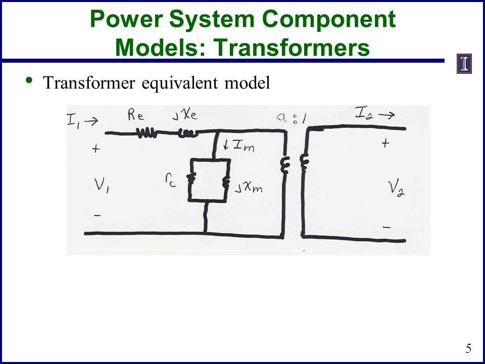 Power System Component Models: Transformers