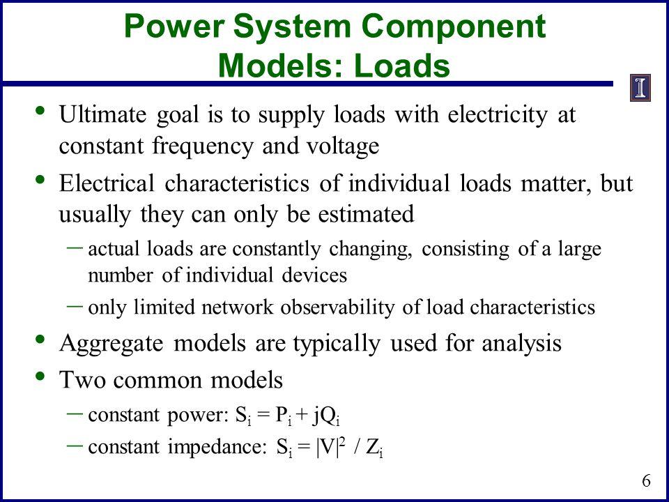 Power System Component Models: Loads