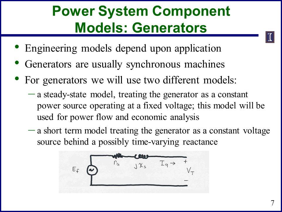 Power System Component Models: Generators