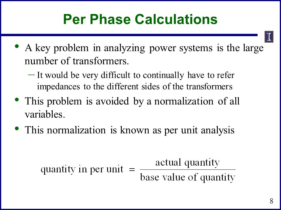 Per Phase Calculations
