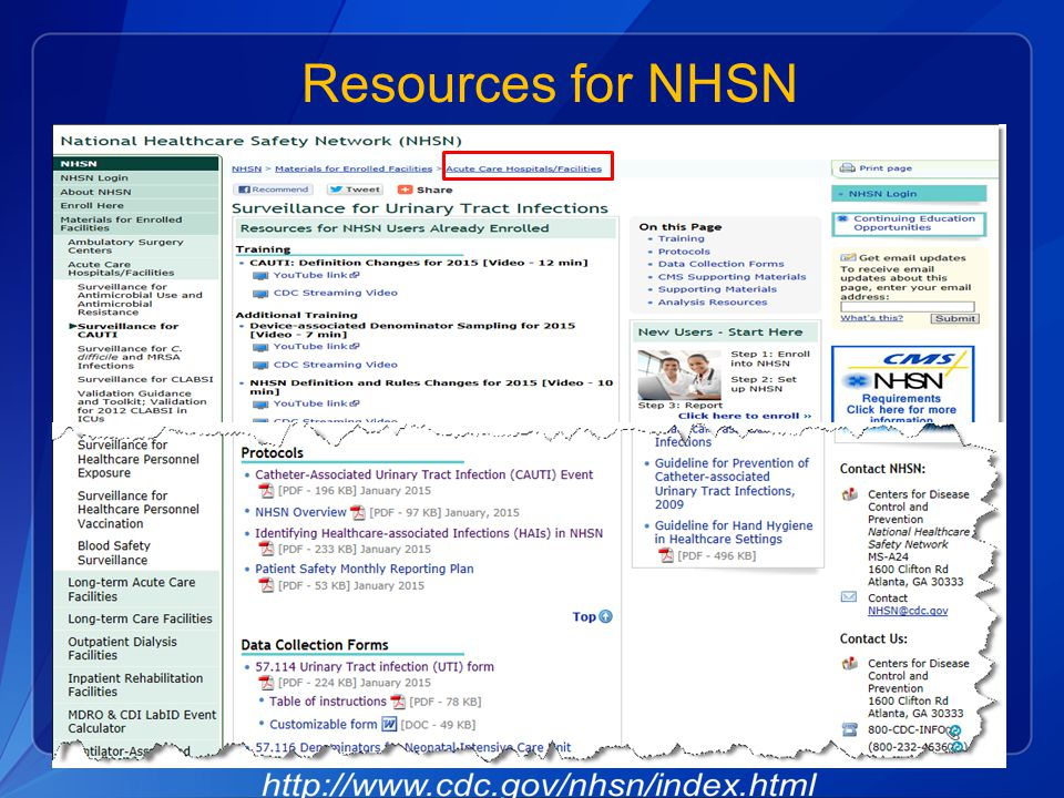 Resources for NHSN
