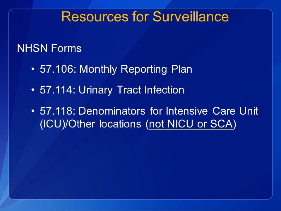 Resources for Surveillance