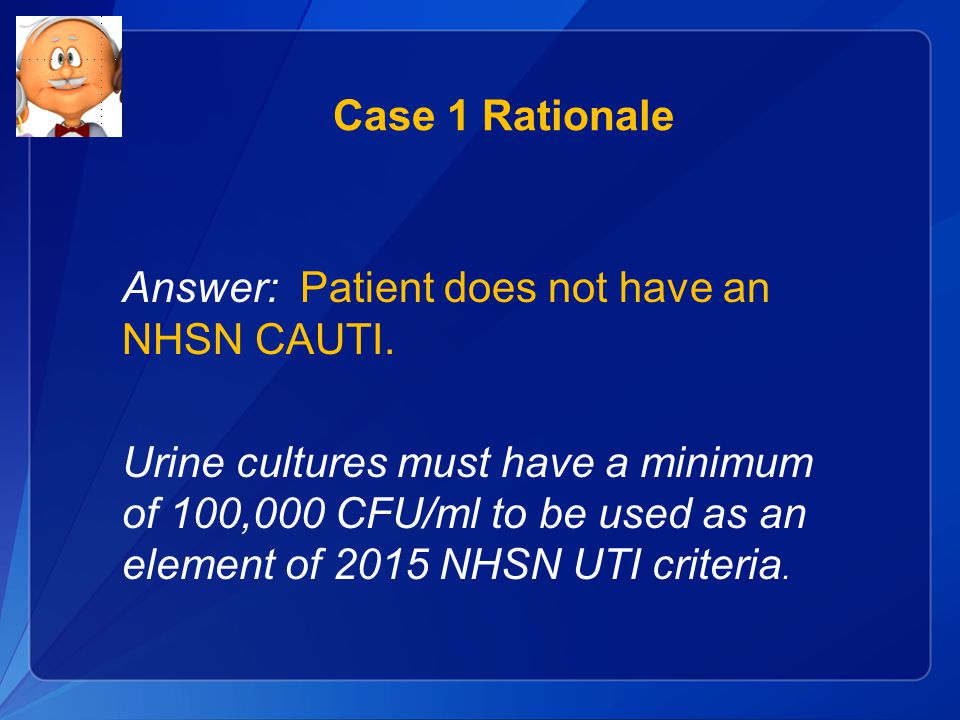 Case 1 Rationale