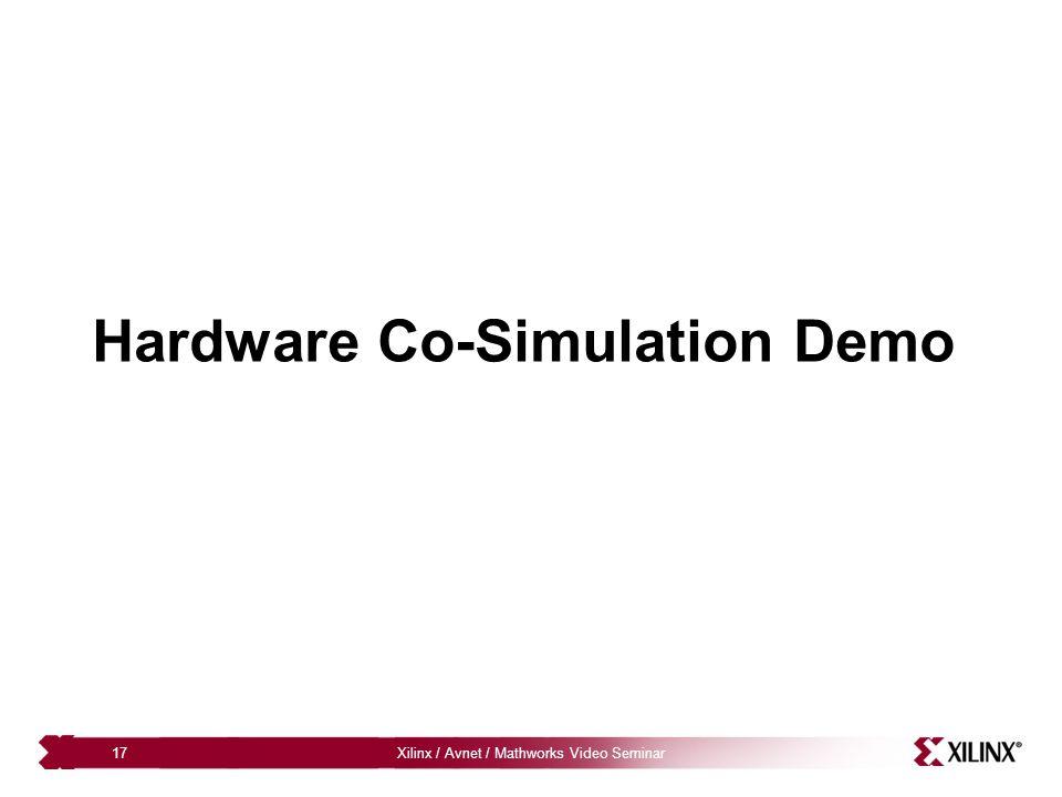 Hardware Co-Simulation Demo
