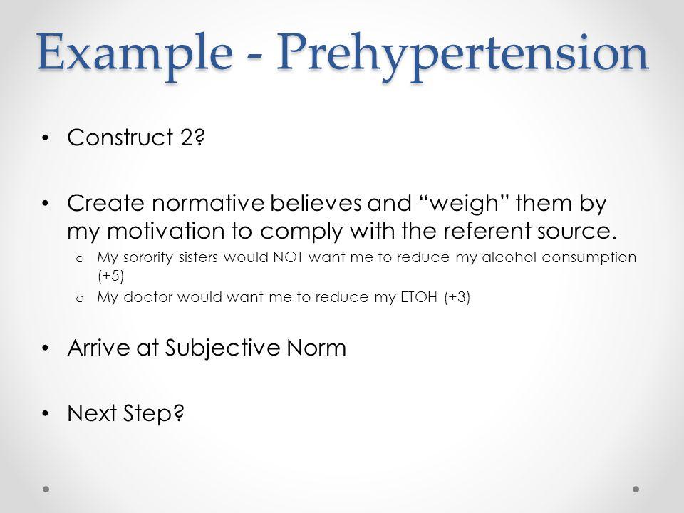 Example - Prehypertension