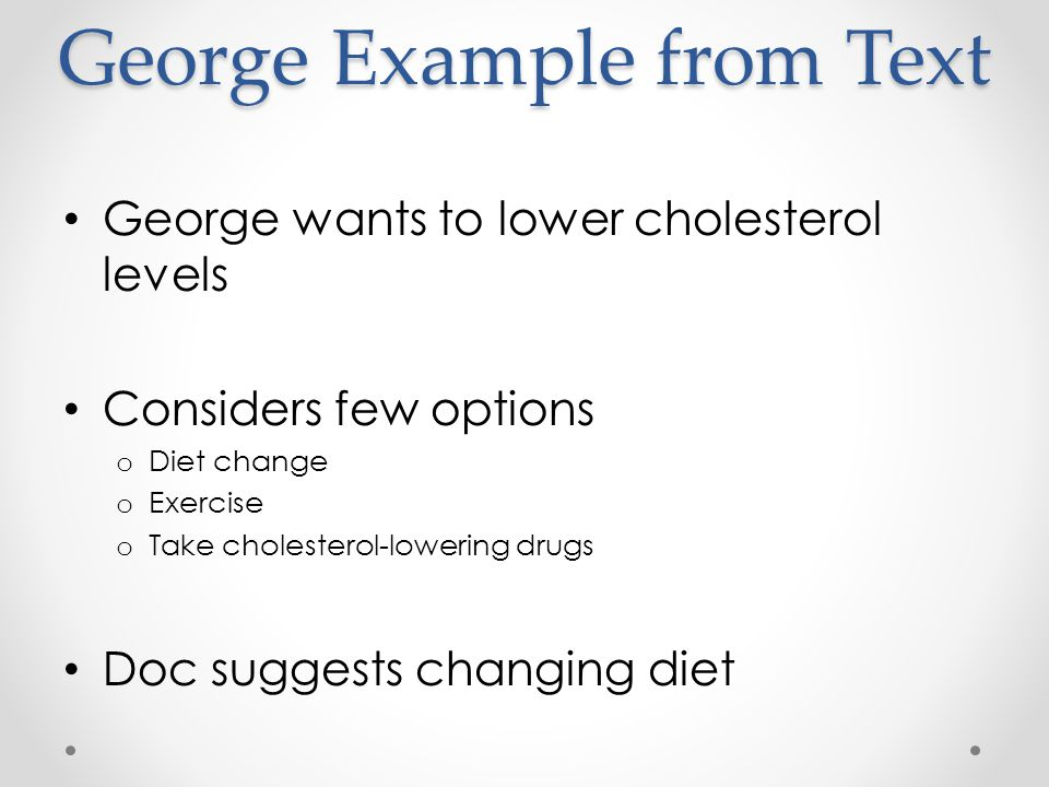 George Example from Text