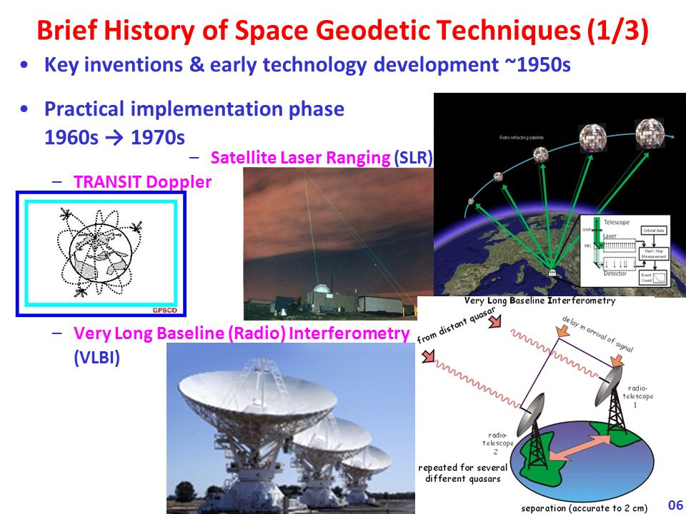 Brief History of Space Geodetic Techniques (1/3)