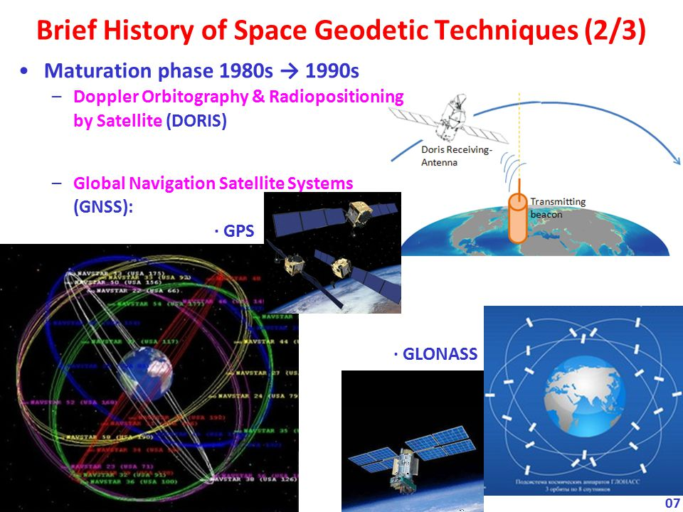 Brief History of Space Geodetic Techniques (2/3)