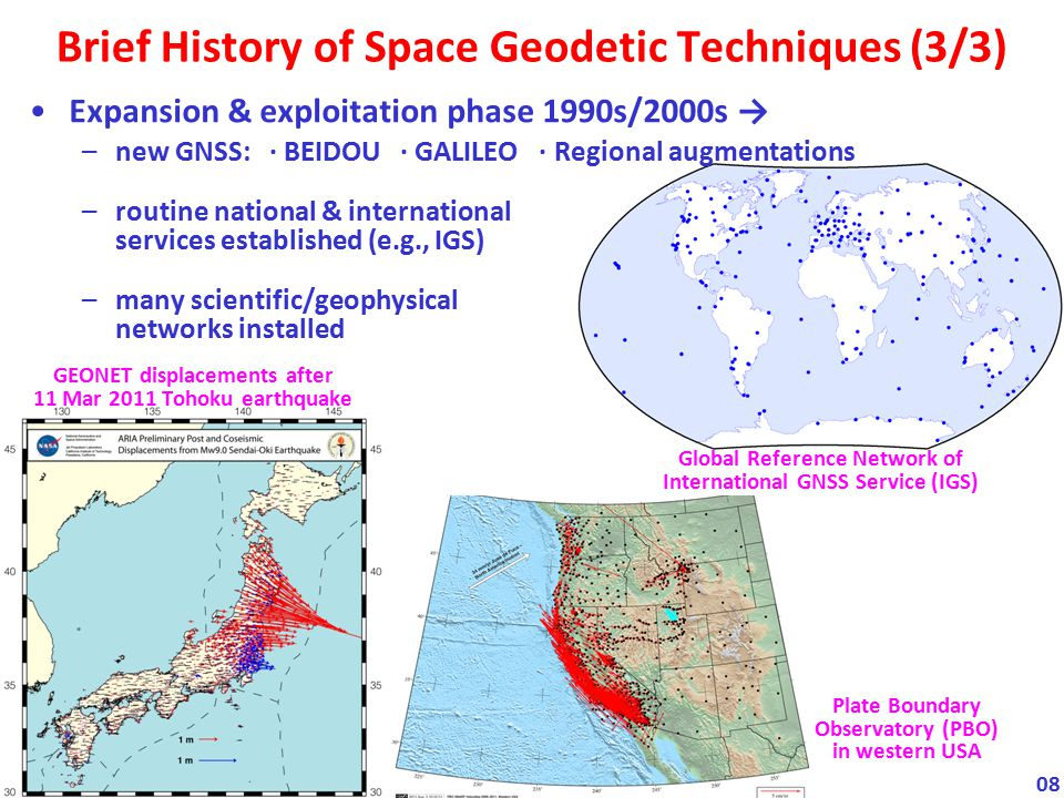 Brief History of Space Geodetic Techniques (3/3)
