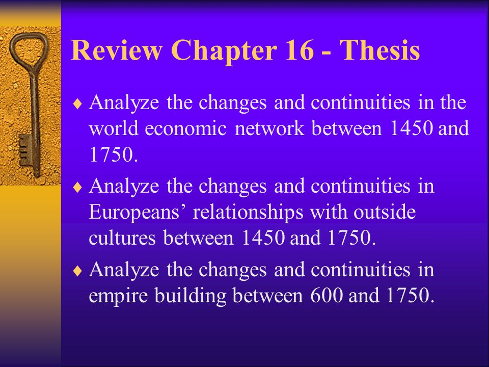 Review Chapter 16 - Thesis
