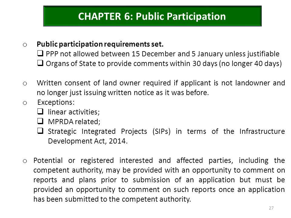 CHAPTER 6: Public Participation