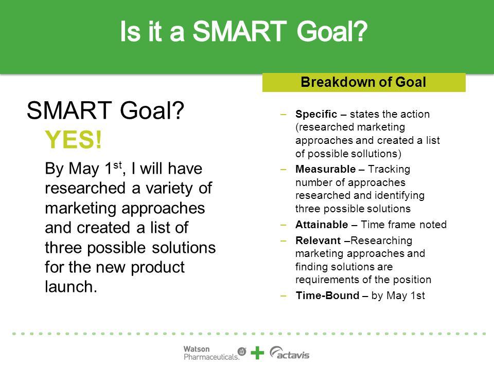 Is it a SMART Goal SMART Goal YES!
