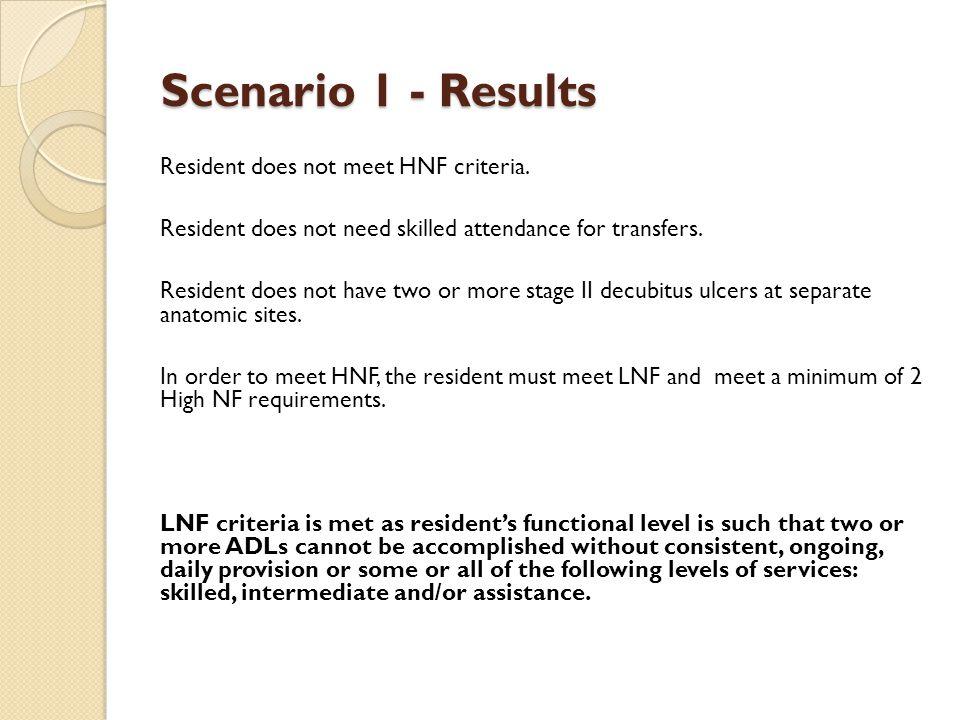 Scenario 1 - Results
