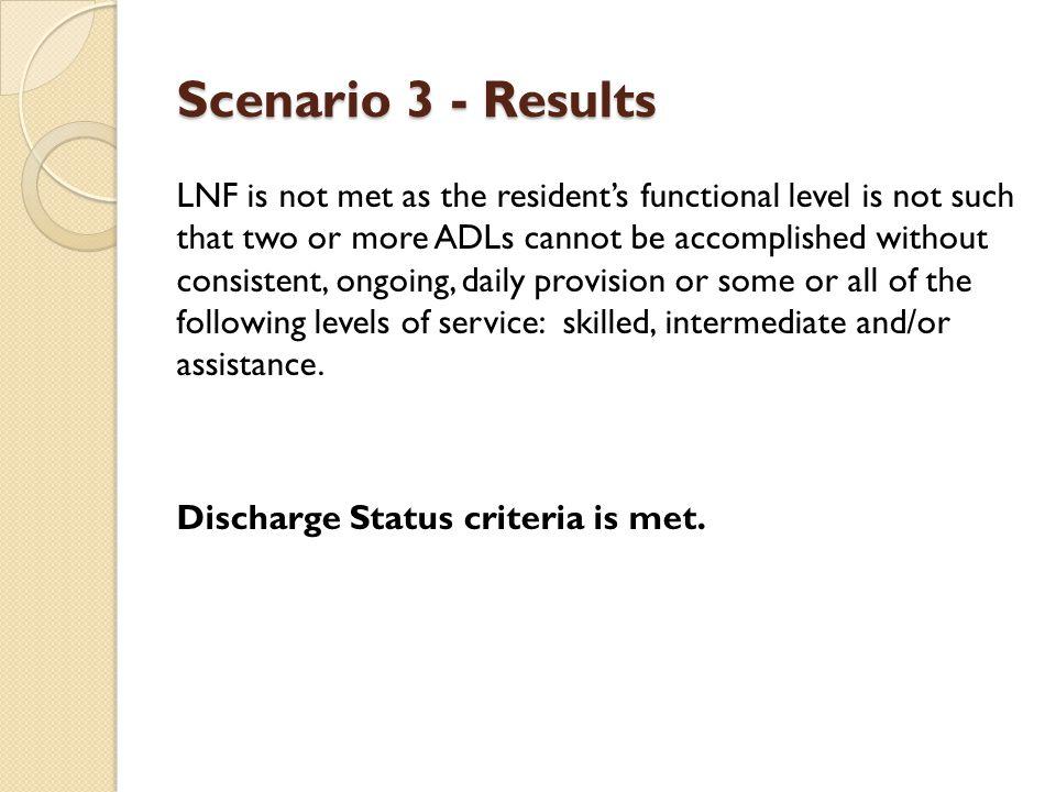 Scenario 3 - Results