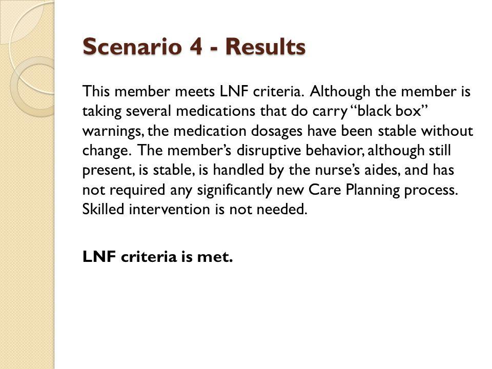 Scenario 4 - Results