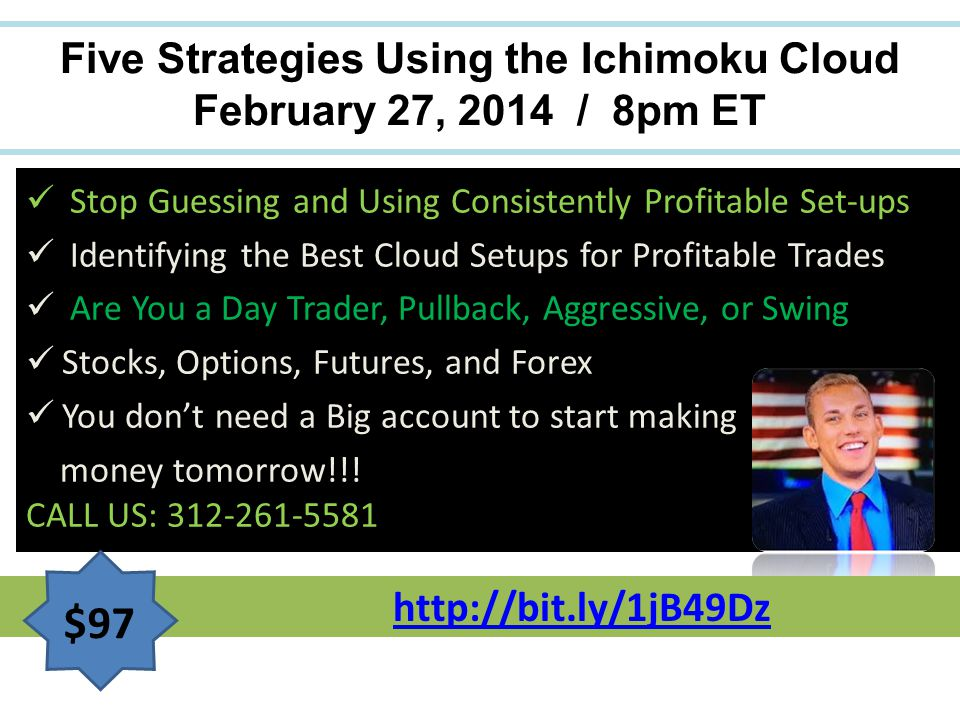 Five Strategies Using the Ichimoku Cloud February 27, 2014 / 8pm ET