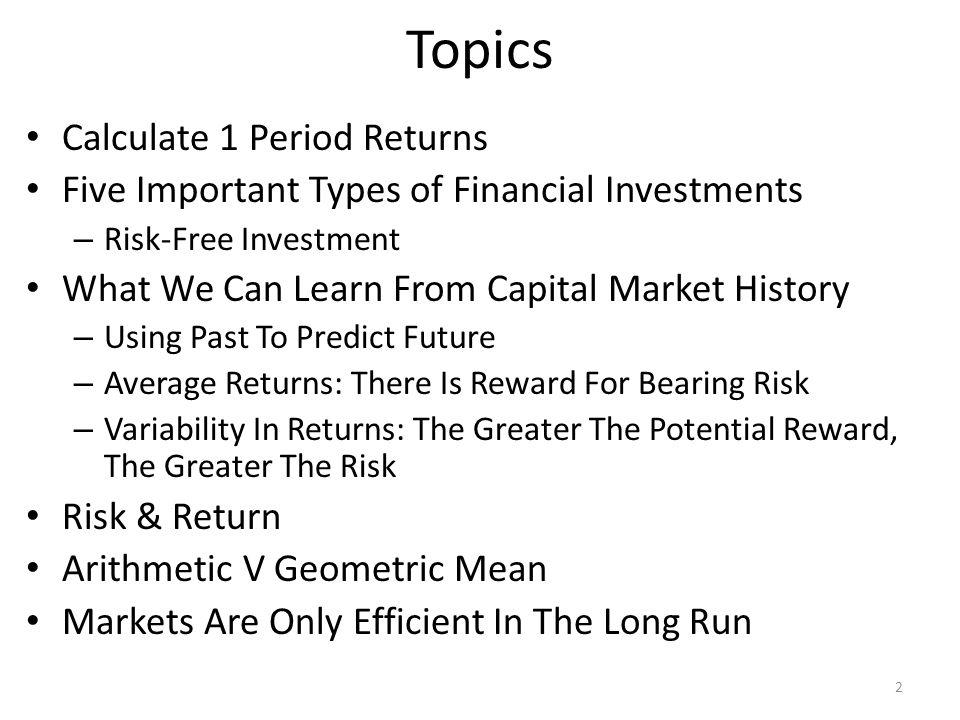 Topics Calculate 1 Period Returns