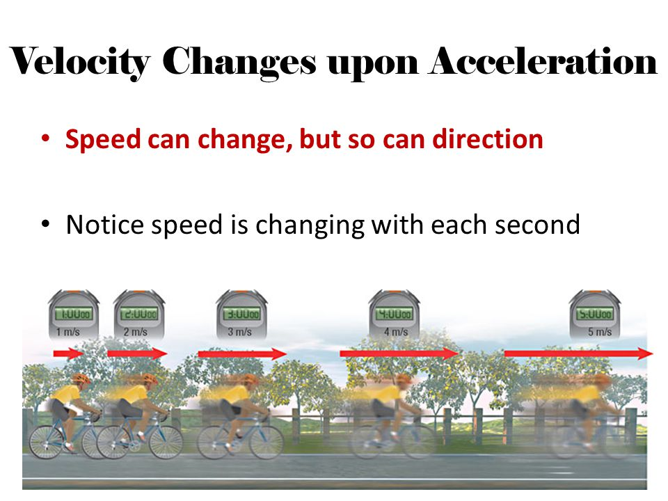 Velocity Changes upon Acceleration