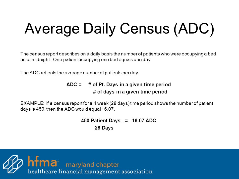 Average Daily Census (ADC)