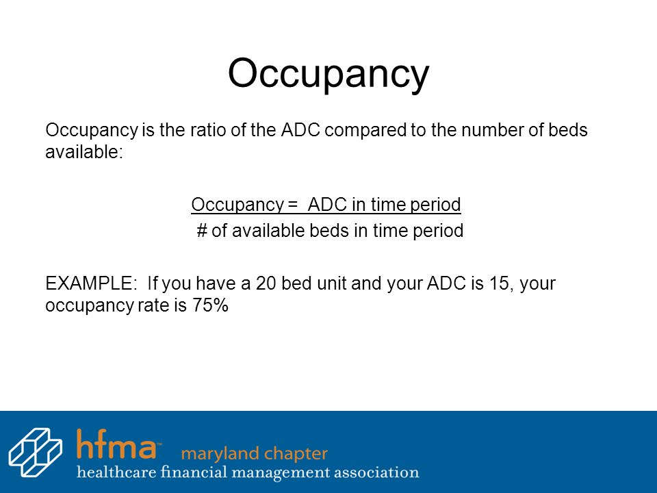 Occupancy = ADC in time period