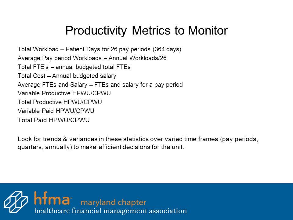 Productivity Metrics to Monitor