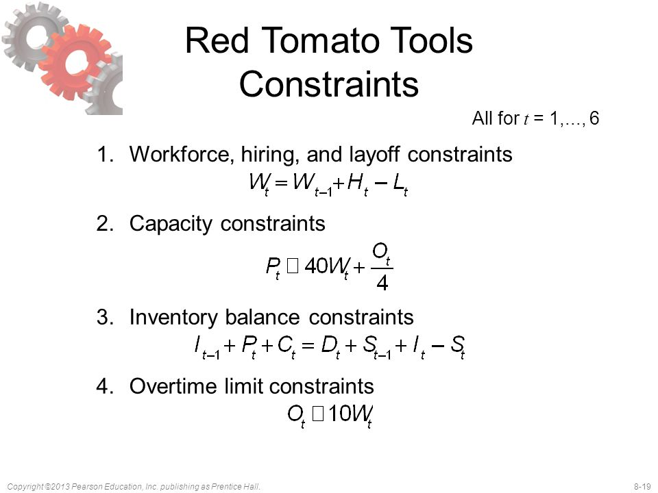 Red Tomato Tools Constraints