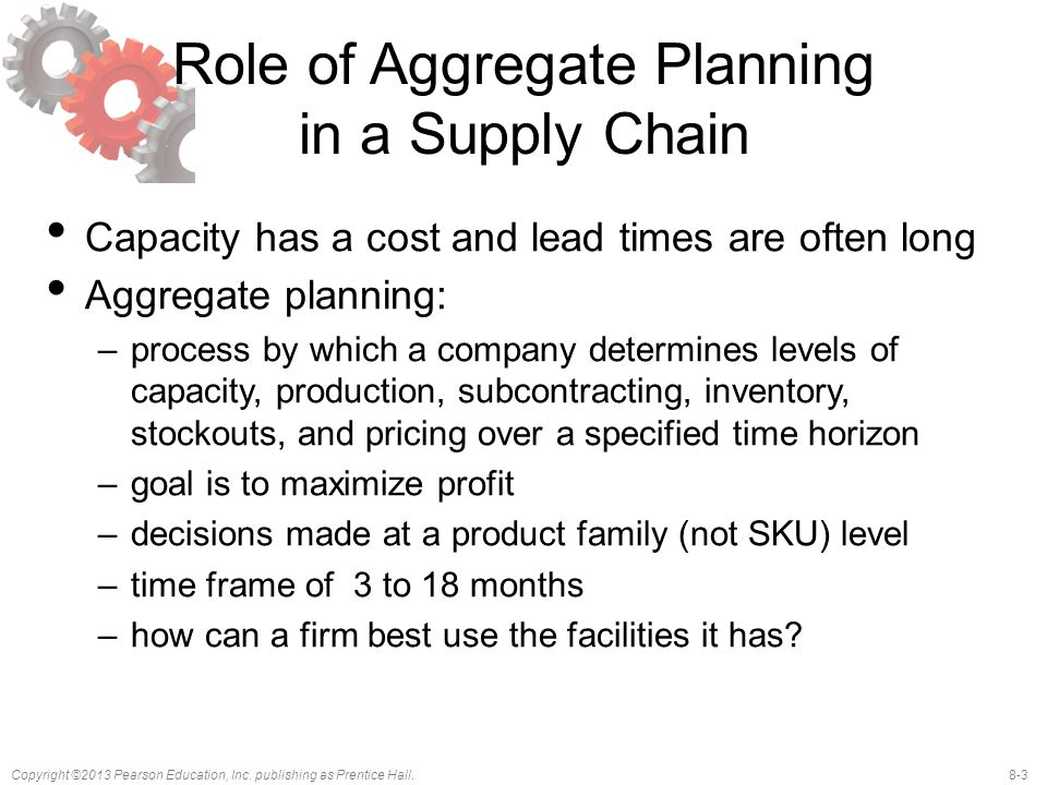 Role of Aggregate Planning in a Supply Chain