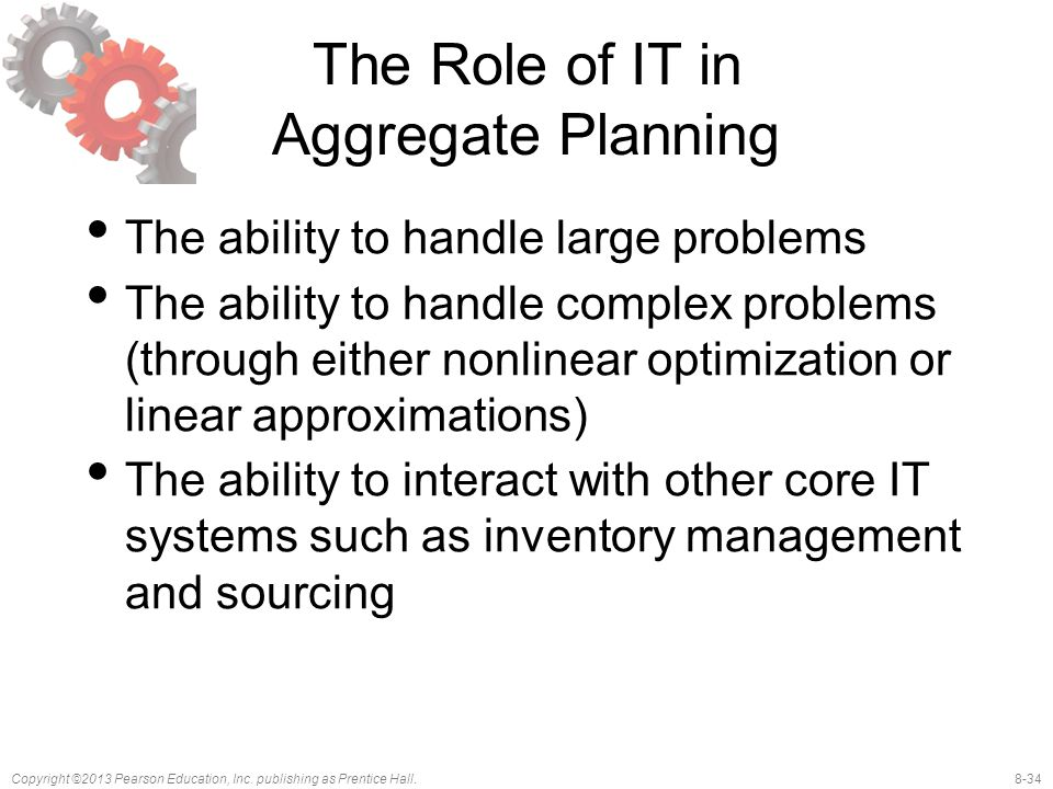 The Role of IT in Aggregate Planning
